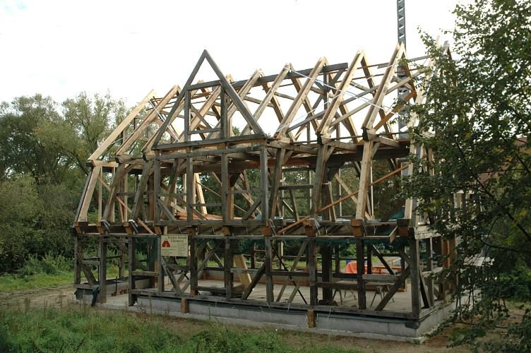 Fotograf hamburg bild holzkonstruktion fachwerkhaus in for Fachwerkhaus konstruktion